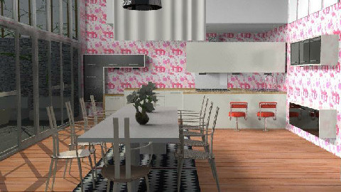 japanese retro1 - Retro - Dining Room - by The_Hunter_and_Gatherer