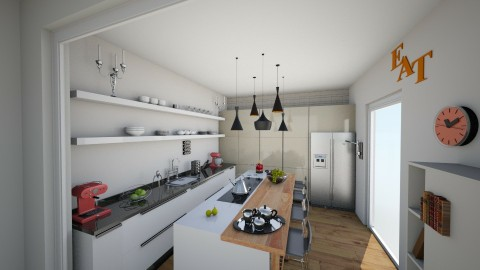 white kitchen 2 - Glamour - Kitchen - by margesimpson2000