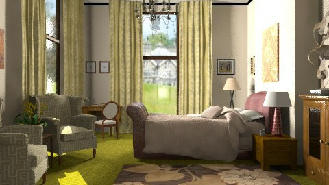 Hotel room - Classic - Bedroom - by milyca8