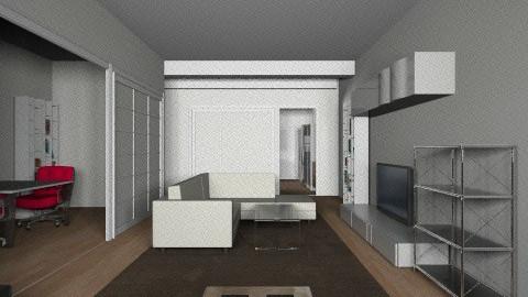 salon POSIBILIDAD 1 - Living room - by parrastaka