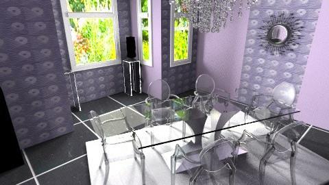 Dine Plum - Glamour - Dining room - by APInteriors