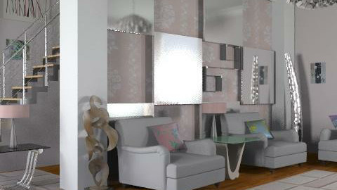 Glass and metal - Glamour - Living room - by Laurika