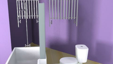 Probably the best purple room!!! - Glamour - Bathroom - by FRANKHAM