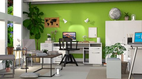 Green Office - Modern - Office - by millerfam
