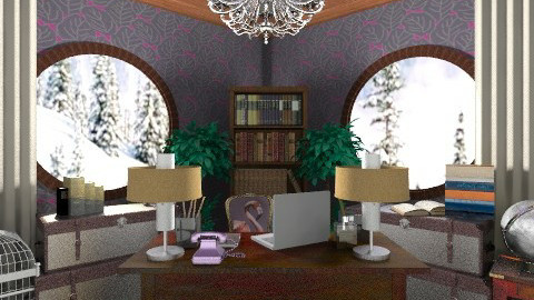 art nouveau inspiration - Retro - Office - by Eleni Irini