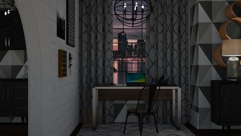 Night in the City - Modern - Office - by NEVERQUITDESIGNIT