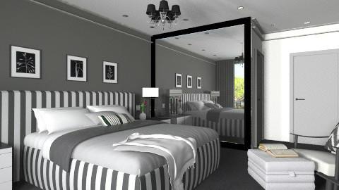 Black and white - Bedroom - by XValidze