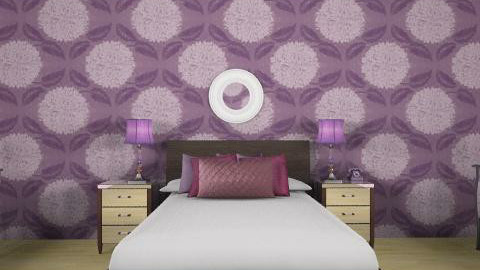 Purple Bedroom - Glamour - Bedroom - by CattyEl