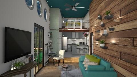Tiny House Nation_Upper Deck Floor Bed - Modern - Bedroom - by LNBR