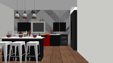Black and white kitchen - Kitchen - by muellerbri