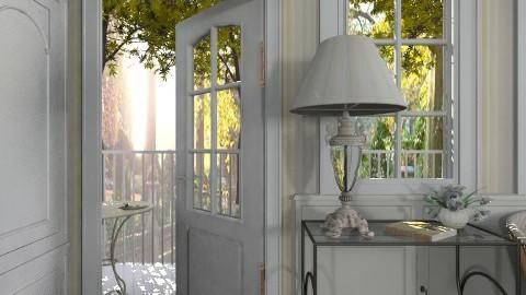 Quiet courtyard - Feminine - Living room - by Leyvna