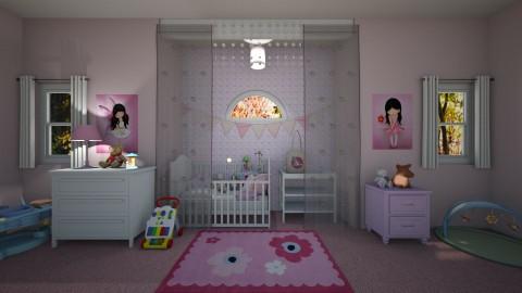 Pink Nursery - Classic - Kids room - by  krc60