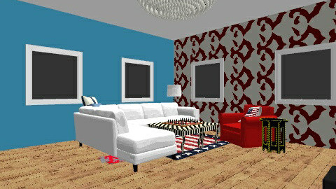 Stars and stripes forever - Living room - by missptheorange