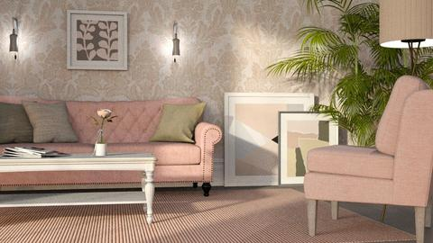 Eclectic in Pink - Living room - by GraceKathryn