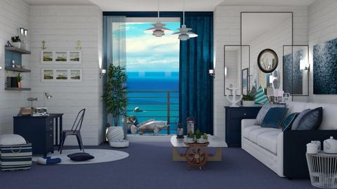 M_Nautical home - Living room - by milyca8