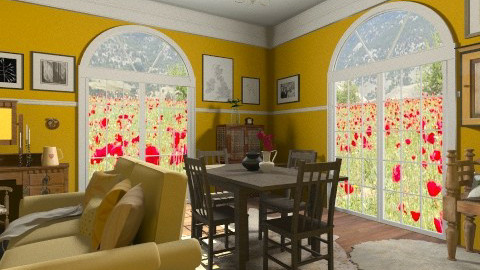 Yellow Room - Country - Living room - by hetregent