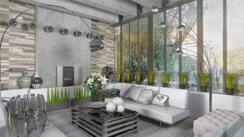 steel and concrete campag - Classic - Living room - by calu13
