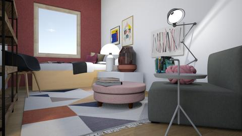 AK makuuhuone - Bedroom - by Essi_eames