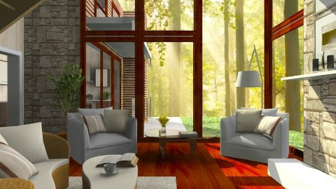 Warmth - Rustic - Living room - by channing4