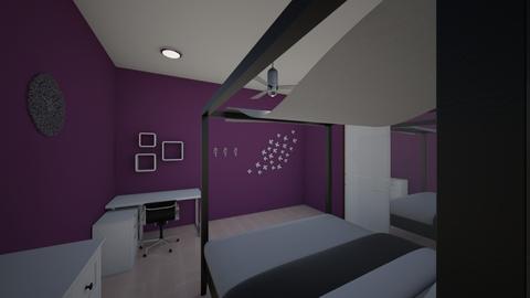 BEDROOM DESIGN IN PURPLE - Modern - Bedroom - by wadaaa06