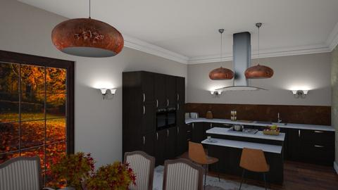 Old Country House Kitchen - Kitchen - by TziviaS