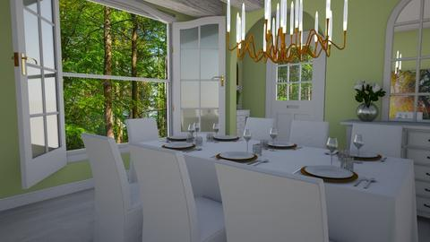 Green Dining Room - Dining room - by PenAndPaper