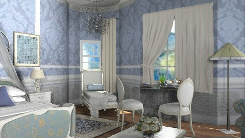 Castle project _The Regal Bedroom  - Classic - Bedroom - by auntiehelen