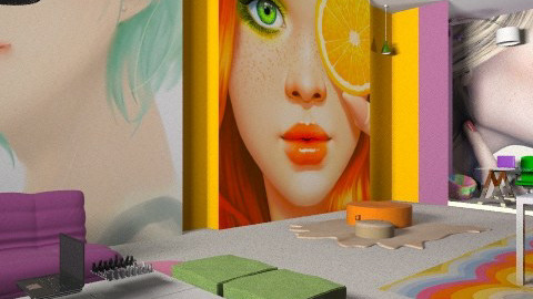 new fun office unfinished2 - Modern - Office - by monicasabile