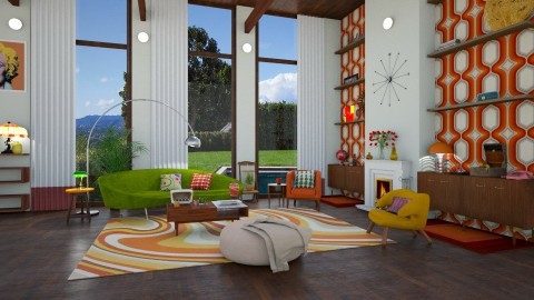 mid century modern - Retro - Living room - by annator