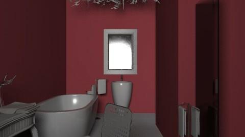 Red bathroom - Glamour - Bathroom - by enik_marton