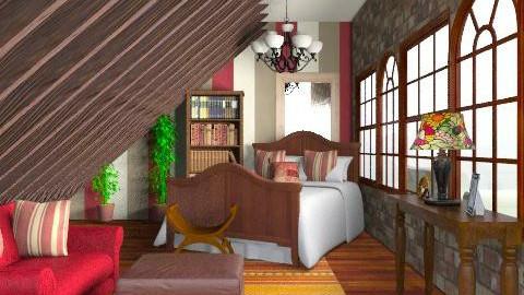 Bedroom - Rustic - Bedroom - by laruue