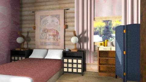 Corner of cabin bed - Rustic - Bedroom - by mrschicken