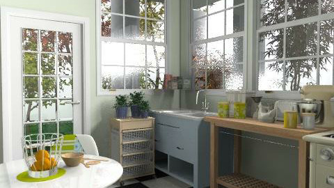 Kitchen with gallery - Rustic - Kitchen - by Nala1