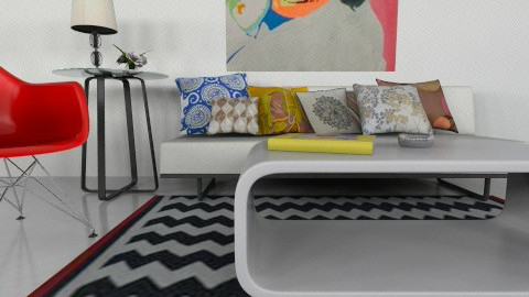 pop art design - Retro - Living room - by mire roig