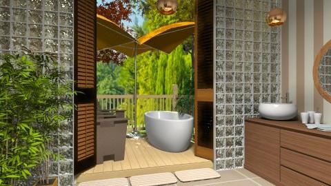 Outdoor Bath1 - Glamour - Bathroom - by Bandara Beliketimulla