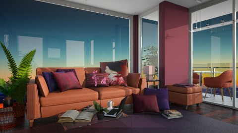 Sunset for Bowie - Classic - Living room - by hellokiwe