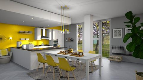 Yellow_Scandinavian - Kitchen - by ZuzanaDesign