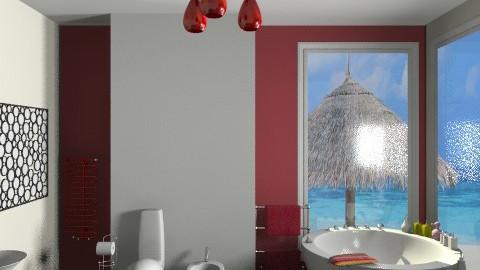 red - Classic - Bathroom - by Aliya Al