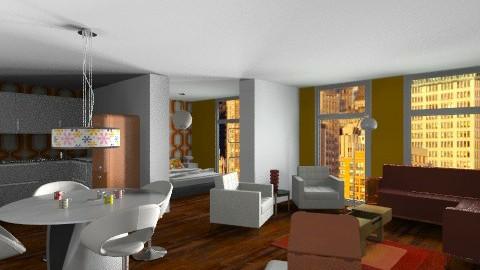 Studio Flat  - Retro - Living room - by Little Miss Paris