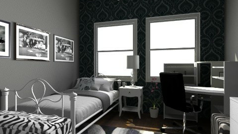 black and white  - Modern - Bedroom - by amelzarah1