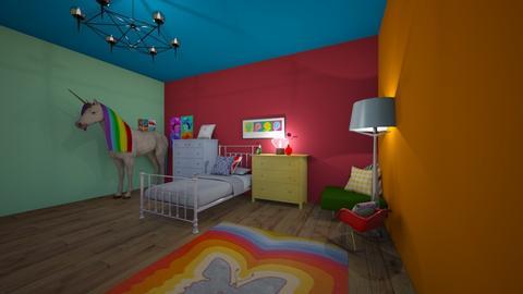 raimbow unicorn room - Minimal - Bedroom - by brooklyn128