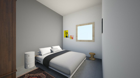 Makuuhuone1.1 - Modern - Bedroom - by Essi_eames