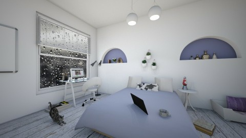Purple Living - Bedroom - by Design_CG