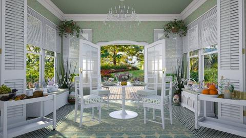 Design 412 Happy Easter - Dining room - by Daisy320