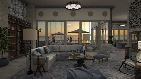 Design 364 Blue Eye Catcher - Living room - by Daisy320