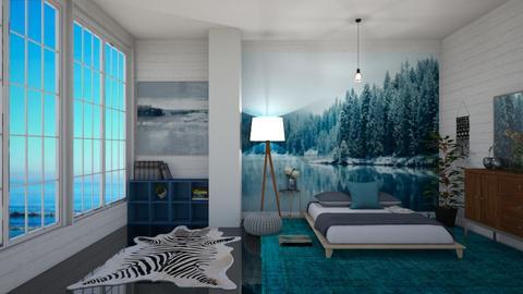 blue winter summer day - Bedroom - by thomanjenna