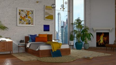 Mid Century Modern 2  - Modern - Bedroom - by NEVERQUITDESIGNIT