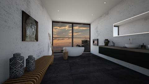 simple earthy bathroom design - Bathroom - by erladisgudmunds