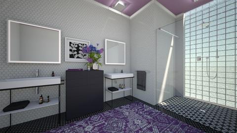 Purple Bathroom - Bathroom - by amyskouson