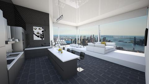 Model Apt NYC - Modern - Kitchen - by mdesign13